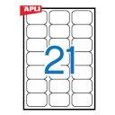 【APLI(アプリ)】マルチプリンター対応 A4 角丸 宛名ラベル 21面(63.5x38.1mm) 100枚 (AP-02414)【粘着ラベル/ラベルシール/...