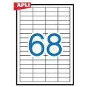 APLI еве╫еъ е▐еые┴е╫еъеєе┐б╝┬╨▒■ A4 ░╕╠╛еще┘еы68╠╠(48.5x16.9mm) 100╦ч (AP-01282)б┌╟┤├хеще┘еы еще┘еые╖б╝еы е╣е╞е├ел е╫еъеєе┐еще┘еы │д│░╩╕╦╝╢ё е╟е╢едеє╩╕╦╝╢ё ╩╕╦╝╢ёдлдядддд OA═╤╗ц еке╒еге╣╗Ў╠│═╤╔╩ е╫еъеєе┐═╤╗цб█