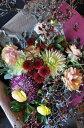 花束 誕生日 パープル・ブラック系 贈り物 ギフトに個性的なお花を 【MK】