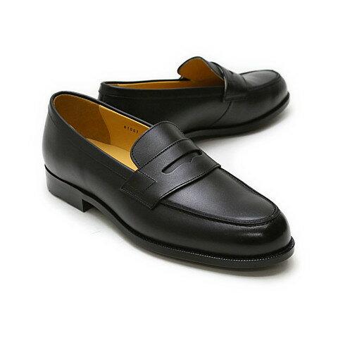 【送料無料】革靴 本革 ビジネスシューズ 【家政夫のミタゾノ着用モデル】クインクラシコ QUEEN CLASSICO メンズ ドレスシューズ 紳士靴 81001 BK ブラック(黒) ローファー 日本製(国産)