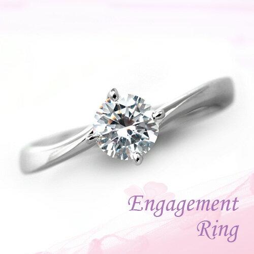 婚約指輪 プラチナ ダイヤモンドエンゲージリング 1.01ct Dカラー SI1 トリプルエクセレントカット GIA鑑定