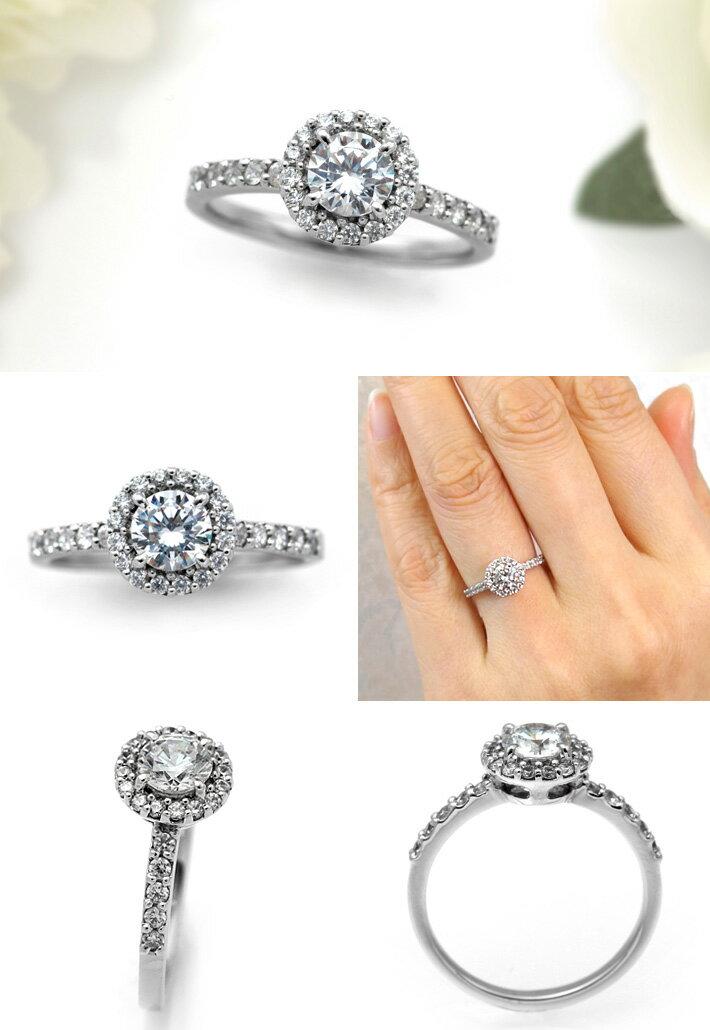 婚約指輪 プラチナ ダイヤモンドエンゲージリング 0.50ctUP Dカラー VS2 トリプルエクセレントカット GIA鑑定 0.50ctUP Dカラー VS2 3Excellent