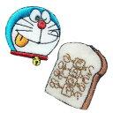 ショッピングドラえもん ドラえもん 暗記パン ワッペン 刺繍 シール アイロン接着 2枚セット キャラクター どらえもん アイロンワッペン かわいい 手芸 入園 入学 わっぺん アップリケ あっぷりけ【メール便可】 マスク用小さいサイズ