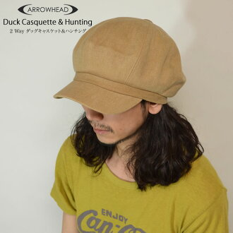 ARROWHEAD arrowhead 2WAY duck casquette & hunting cap adjustable size BIC size (regular and big size) fs2gm