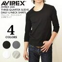 AVIREX daily U neck three-quarter sleeves T-shirt inner mens shirt fs2gm