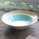 トルコブルーに吸い込まれそうな浅瀬水色の平鉢 和食器 おしゃれ ボウル 前菜 サラダ 小鉢 和皿 1