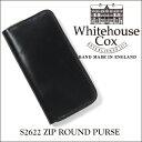 【正規品】ホワイトハウスコックス ジップラウンドウォレット S2622/ZIP ROUND PURSEブライドルレザー/ブラック【Whitehouse Cox/...