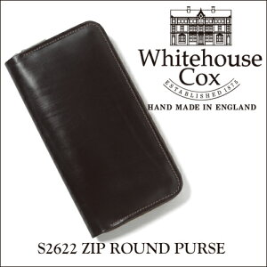 ホワイトハウス コックス ジップラウンドウォレット ブライドルレザー ブラウン