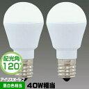 アイリスオーヤマ LDA4N-H-E17-4T52P LED電球 小形電球形 40W相当 昼白色相当 2個パック LDA4NHE174T52P