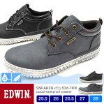 EDWIN/エドウィン メンズ 4cm防水&軽量カジュアルスニーカー 7808 25.5/26.0/26.5/27.0/28.0/シューズ/スニーカー/靴/2019秋冬/新作