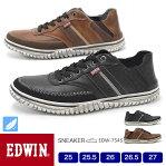 EDWIN メンズ スニーカー 軽量 スリッポン 7545 25.0/25.5/26.0/26.5/27.0/シューズ/メンズ スニーカー/靴/2020春夏/新作