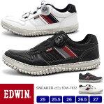 EDWIN/エドウィン メンズ ダイヤル式スニーカー 7832 25.0/25.5/26.0/26.5/27.0/シューズ/スニーカー/靴/2020春夏/新作