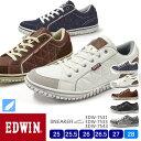 【送料無料】【2021春夏newカラー】EDWIN メンズ 軽量 サイドキルティングローカットスニーカー 7533/7531/7543 25.0/25.5/26.0/26.5/27.0/28.0/シューズ/スニーカー/靴