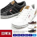 EDWIN/エドウィン メンズ カジュアルローカットスニーカー 7138 25.0/25.5/26.0/26.5/27.0/28.0/シューズ/スニーカー/靴/2019春夏/新作