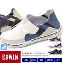 【送料無料】EDWIN メンズ ビンテージ スリッポン 軽量 スニーカー 7535 25.0/25.5/26.0/26.5/27.0/シューズ/メンズ スニーカー/靴/2019春夏モデル/新作