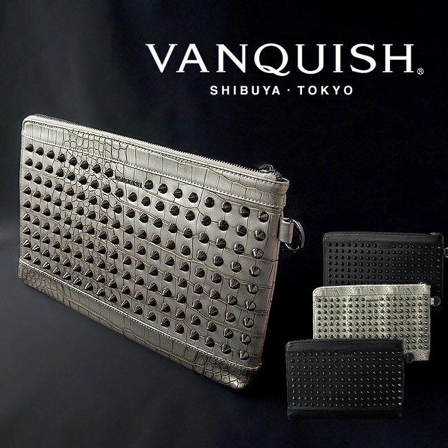 【送料無料】バッグ メンズ VANQUISH ヴァンキッシュ クラッチバッグ スタッズ タブレット VQM-41140