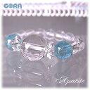 パワーストーン 天然石AAAAA水晶 AAAAアパタイト リング(指輪)