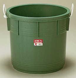 リス興業 ねり樽75 75L 外寸560 × 470mm グリーン(RS0008)