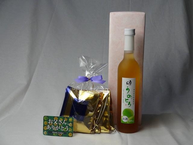 父の日 ギフトセット リキュールセット ( 完熟梅の味わいと日本酒のうまみをたっぷりの梅リキュール うめとろ500ml 7%奥の松酒造(福島県)+挽き立て珈琲(ドリップパック5パック)) 父の日カード付