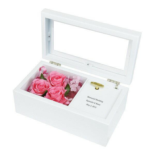 贈り物ギフトレリーフセット プリザーブドフラワー オルゴール ピンク 心より感謝の気持ちを込めた世界にたった一つだけの贈り物!