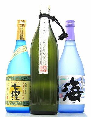 限定流通の芋焼酎3本セット【七窪】【?ないな】【海】の商品画像