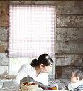 ギンガムチェック柄の小窓カーテン・カフェカーテン【ピンク】GinghamCheck(ギンガムチェック)- カジュアル・キュート
