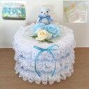 ショッピングパンパース 出産祝い ベアー おむつケーキ 男児用 ブルー