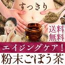 【送料無料】かごしまの粉末ごぼう茶 50g ごぼう丸ごと 食物繊維 イヌリン エイジン