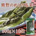 熊野のめはり高菜300g×10袋【国産】【代引き不可】