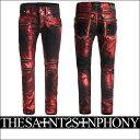 ショッピングが、 新作【THE SAINTS SINPHONY/セインツシンフォニー】24 CARAT MAGIC・デニム(ジーパン・レッド×ブラック・RED×BLK)メンズ【送料無料】セインツのTシャツと相性バッチリ!目を惹くレッドがカッコイイ!【インポート】【セレカジ】【正規品】