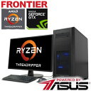 AMD最新CPU Ryzen Threadripper 搭載 ゲーミング パソコン PC【ポイント5倍】フロンティア デスクトップパソコン [Windows10 AMD Ryzen Threadripper 1950X 3.40GHz 32GBメモリ 525GB SSD 3TB HDD GeForce GTX1080Ti 11GB] FRGBX399ML/E3 FRONTIER【新品】S【FR】