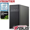 【PSO2推奨】フロンティア デスクトップパソコン [Windows10 Core i7-7700 16GB メモリ 2TB HDD 250GB SSD GeForce GTX 1070 8GB] FRGE..