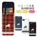 スライドケース カード収納 iPhoneケース galaxyS9 iPhoneX XS iPhone8 iPhone8Plus iPhone7 7Plus iPhone6s/6Plus SE/5s ICカード収納..