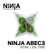 NINJA BEARING ニンジャベアリング ABEC 3 スケボー OIL TYPE オイルタイプ STAR スター SKATEBOARD