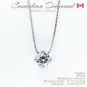 カナディアンダイヤモンドペンダント 一粒ダイヤ 0.50ctUP PT950(チェーンPT850)