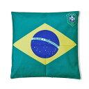 ショッピングクッションカバー 【サッカーブラジル代表】CBFエンブレム付きブラジル国旗【クッションカバー】 | ブラジルカラー