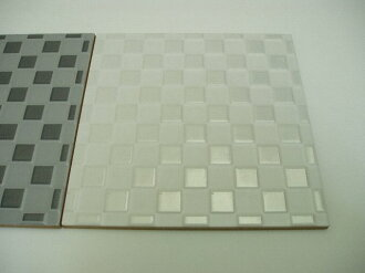 Italy tiles white techno concave metallic one piece 200 x 200 x 7