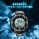 スマートウォッチ 腕時計 メンズ デジタルウォッチ 電話/メ...