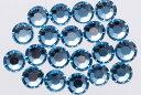 スワロフスキー製【NoHotFix】デコ電/ネイル用 ラインストーンS-34【7.27mm】10ヶ アクアマリン
