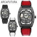 ARCAFUTURA アルカフトゥーラ 自動巻き 腕時計 メンズ 送料無料 1年保証 フルスケルトン 自動巻き 腕時計 BOX 保証書付き 新生活 プレゼント