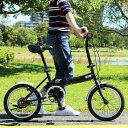 CHEVROLET シボレー 折りたたみ 自転車 16インチ シングルギア シンプル 16インチ 折りたたみ自転車 ブラック X0111 0228 新生活 プレ..