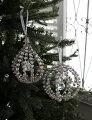 スタイルロココ クリスマスオーナメント♪ (ジュエルオーナメント・2種) シャビーシック 北欧 フレンチ ロマンティック ラインストーン 可愛い クリスマス飾り ツリーオーナメント