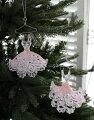スタイルロココ クリスマスオーナメント♪ (ドレスハンガーオーナメント・2種セット) シャビーシック 北欧 フレンチ ロマンティック ラインストーン 可愛い クリスマス飾り ツリーオーナメント