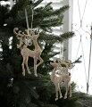 スタイルロココ クリスマスオーナメント♪ (ディアーオーナメント・2種セット) シャビーシック 北欧 フレンチ ロマンティック トナカイ 可愛い クリスマス飾り ツリーオーナメント
