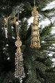 スタイルロココ クリスマスオーナメント♪ (ビーズタッセル・2種) シャビーシック 北欧 フレンチ ロマンティック ラインストーン 可愛い クリスマス飾り ツリーオーナメント タッセル