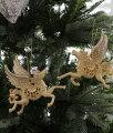 スタイルロココ クリスマスオーナメント♪ (ペガサスオーナメント・2種セット) シャビーシック 北欧 フレンチ ロマンティック ラインストーン 可愛い クリスマス飾り ツリーオーナメント