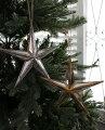 スタイルロココ クリスマスオーナメント♪ (ミラースターオーナメントS・2種) シャビーシック 北欧 フレンチ ロマンティック ラインストーン 可愛い クリスマス飾り ツリーオーナメント 星