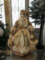 スタイルロココ クリスマスオーナメント♪ (ヴィクトリアンキャット・猫の貴婦人 クリーム系) 猫の置物 人形 キャット シャビーシック フレンチ ロマンティック 可愛い クリスマス飾り