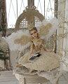 スタイルロココ クリスマスオーナメント♪ (クラウンフェアリー・座り) 妖精 ドール 人形 置物 シャビーシック フレンチ ロマンティック 可愛い クリスマス飾り クリスマスオブジェ