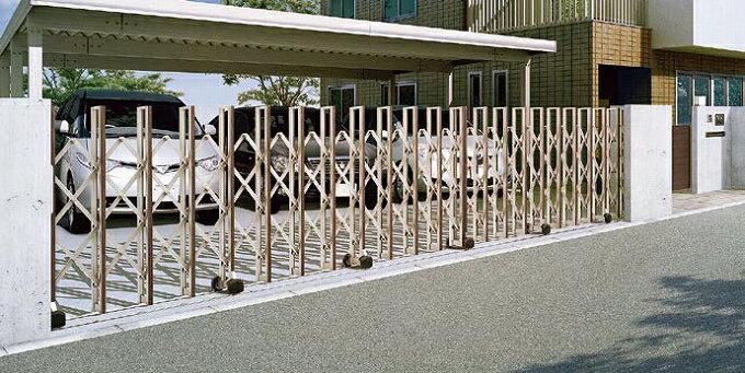 グランシャイン Cタイプ フラットレールタイプ 左右両開閉 700SW 伸縮 門扉 ゲート LIXIL リクシル